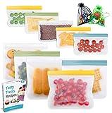 Reusable Storage Bags - 10 Pack Leakproof Freezer...