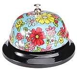 Angoily Schreibtisch Anruf Glocke Service Glocke Blume Gedruckt Handbell für Home Hotels Schulen...