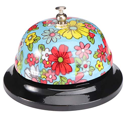 Vosarea campana de servicio colorido portátil para oficina restaurante hotel recepción bar hogar (estilo 7)