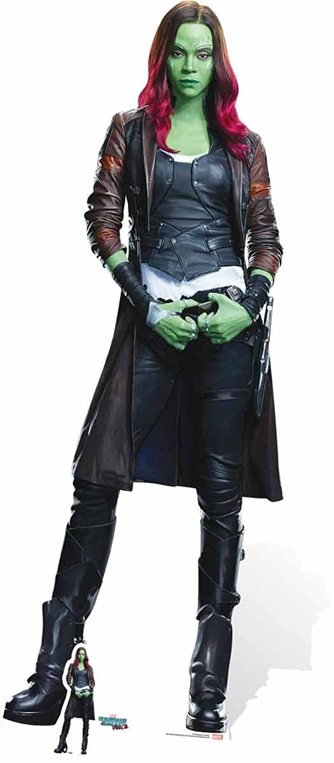 MARVEL Gamora Superhuman GOTG 2 Zoe Saldana Cardboard Cut-Out, Multi-Colour