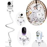 Baby Camera Mount Universal Flexible Baby Monitor Holder Shelf Baby Monitor Holder Strong Baby Camera Shelf Bracket No Drilling Baby Monitor Bracket Compatible with Most Baby Monitors