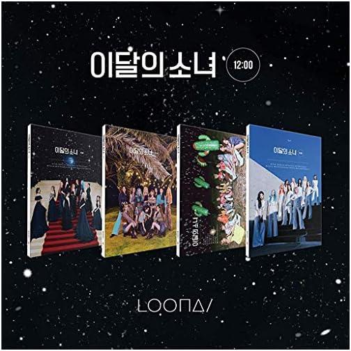 Blockberry Creative Monthly Girl LOONA - 12:00 (3rd Mini Album) Album+Folded Poster+Extra Photocards Set (B ver.)  