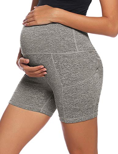Yoga Shorts for Women Maternity Athletic Workout Running Shorts with Pockets