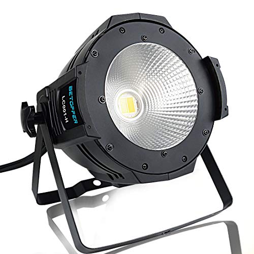BETOPPER DJ Par Light Led Par Can DJ Disco Wash Lights 100W COB DJ Wash Par Lights Luci a LED super luminose per palcoscenico Chiesa Chiesa Piscina Matrimonio