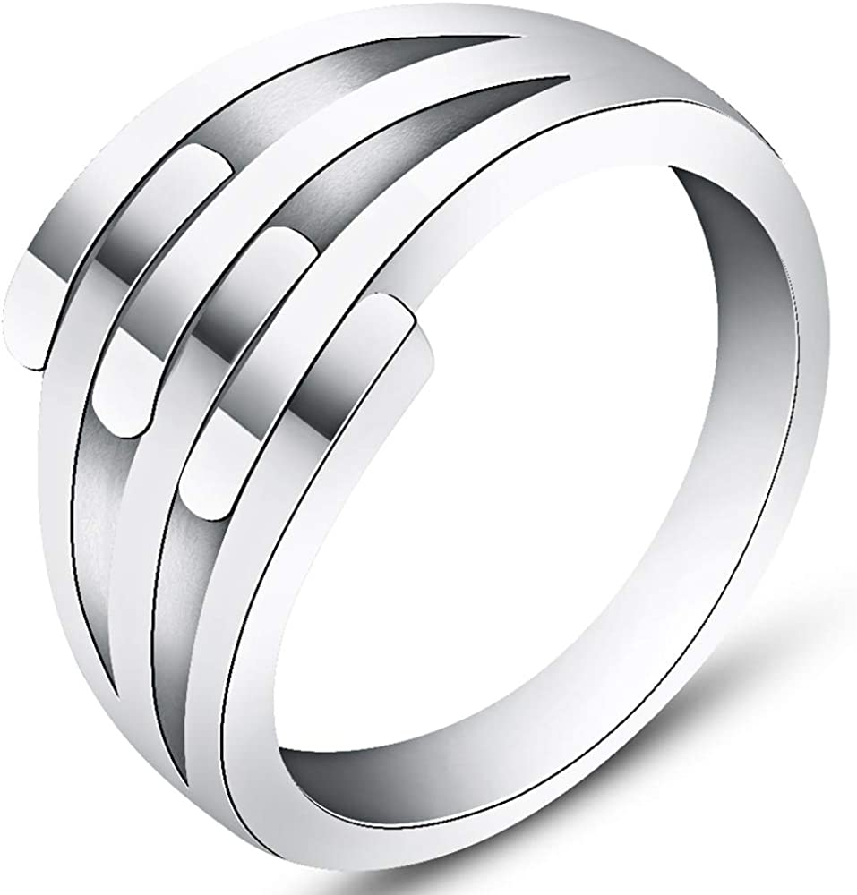 Jude Jewelers Stainless Steel Wedding Engagement Promise Statemnet Anniversary Ring