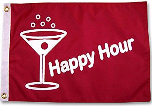 Happy Hour Fish Red Outdoor Garden Flag (3ftx5ft)