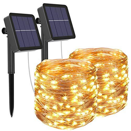 [2 Pack] Guirnaldas Luces Exterior Solar, Litogo Luces Led Solares Exteriores Jardin...