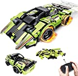 M&Ostyle 2-in-1 Remote Control Racer & Off-Road Vehicle,335PCS STEM Building Toys for Kids with Remote Control Car, Educational Building Toys, Engineering Kits Early Learning Racecar Building Blocks