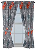 Disney Pixar Cars Lighnting Speed 63' Inch Drapes - Beautiful Room Décor & Easy Set Up, Bedding Features Lightning McQueen - Curtains Include 2 Tiebacks, 4 Piece Set (Official Disney Pixar Product)