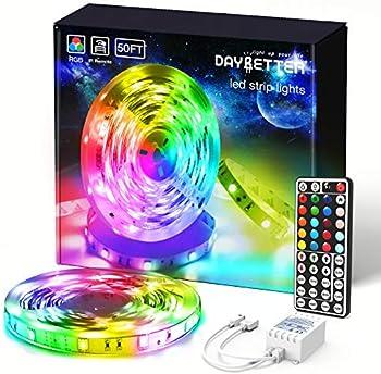 Daybetter 50 ft SMD 5050 Remote Control Led Strip Lights