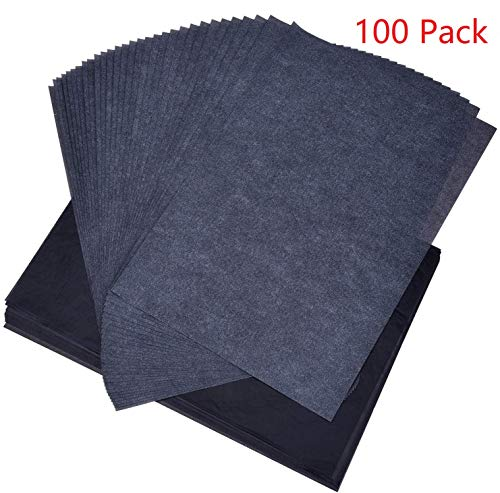HOUSON 100 Blatt Kohlepapier A4 Carbon Papier Transferpapier Graphitpapier Kopierpapiere Pauspapier Durchschreibepapier für Holz, Papier, Leinwand