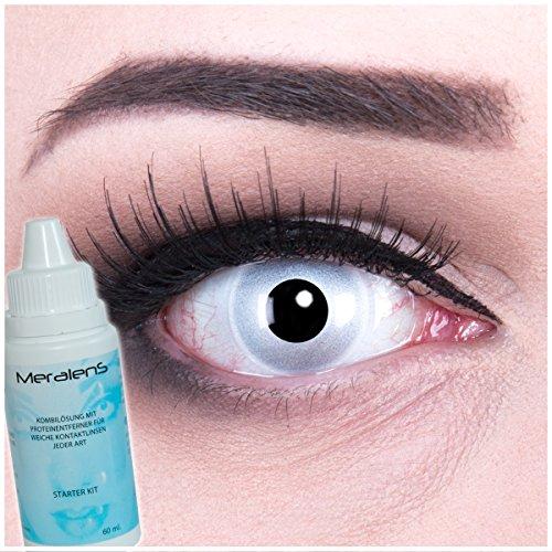 Farbige verspiegelte Kontaktlinsen ohne Sehstärke crazy contact lenses Mirror verspiegelte Kontaktlinsen 1 Paar perfekt zu Halloween, Fasching und Karneval. Mit gratis Linsenbehälter + 60ml Pflegemittel