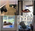 JZK hamac de fenêtre pour Chat + Couverture de Chat,Ventouse Animaux de Compagnie Suspendus lit et Couverture Noire pour Animaux de Compagnie pour la Perche de Chat #3
