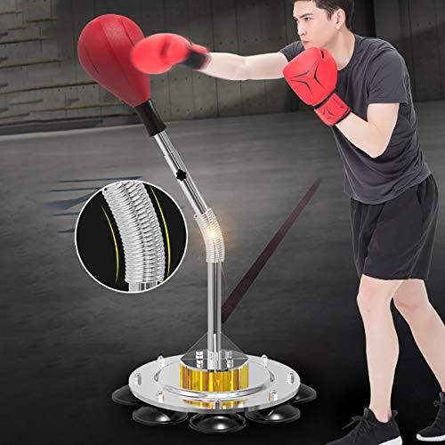 自立パンチングバッグスピードボール格闘技、 ムエタイ、 蹴る&ボクシング レフレックススピードトレーニングスタンド 高さ調節可能跳ね返りの塩基で 大人用