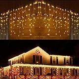 BrizLabs Navidad Cortina Luces Exterior, 8.8m 360 LED