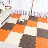 ジョイントマット カラー パズルマット サイドパーツ付 タイルカーペット 吸着 床保護 タイルマット ペット用カーペット ズレない 洗える タイルマット チェアマット 防音 60*60*2.5cm*4 床暖房対応 自由にカット可能 ジョイントマット
