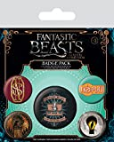 Pyramid Fantastic Beasts And Where to Find Them Set di spillette, Multicolore, Unico...