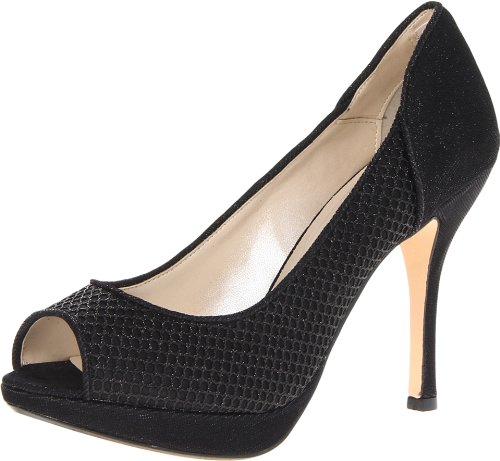 Caparros Women's Jaelyn Platform Pump,Black/Black,8.5 M US