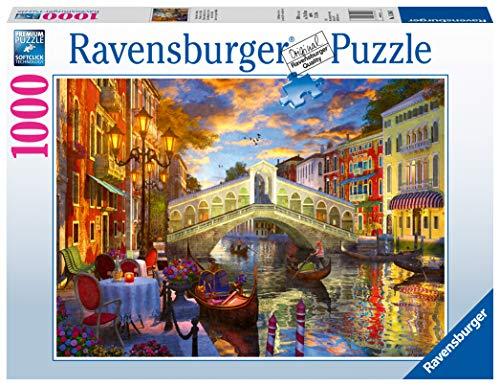 Ravensburger Puzzle 1000 Pezzi, Tramonto sul Ponte di Rialto, Puzzle Venezia, Collezione Paesaggi & Foto, Jigsaw Puzzle per Adulti, Puzzle Ravensburger - Stampa di Alta Qualità