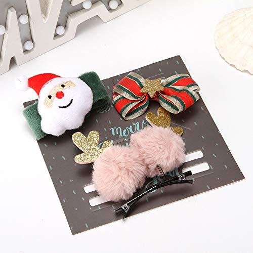 Accessoires pour cheveux - Épingle à cheveux de Noël - Pour adultes et enfants - Avec bande Velcro