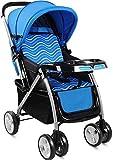 Sillas de paseo Cochecito de bebé Puede Sentarse de Dos vías de Cuatro Ruedas Peso Ligero Plegable Amortiguador recién Nacido Cochecito de bebé Carritos (Color : A)
