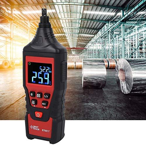 GXT Higrómetro, psicrómetro Digital Multifuncional portátil, con función de Apagado automático. práctico