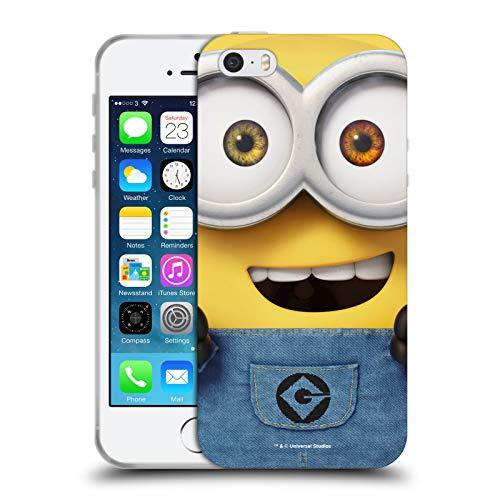 Head Case Designs Licenza Ufficiale Despicable Me Bob Minions Tutto Il Viso Cover in Morbido Gel Compatibile con Apple iPhone 5 / iPhone 5s / iPhone SE 2016