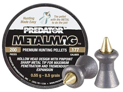 Predator Polymag Metalmag .177 Metal Tipped Airgun Pellets, 100-pack