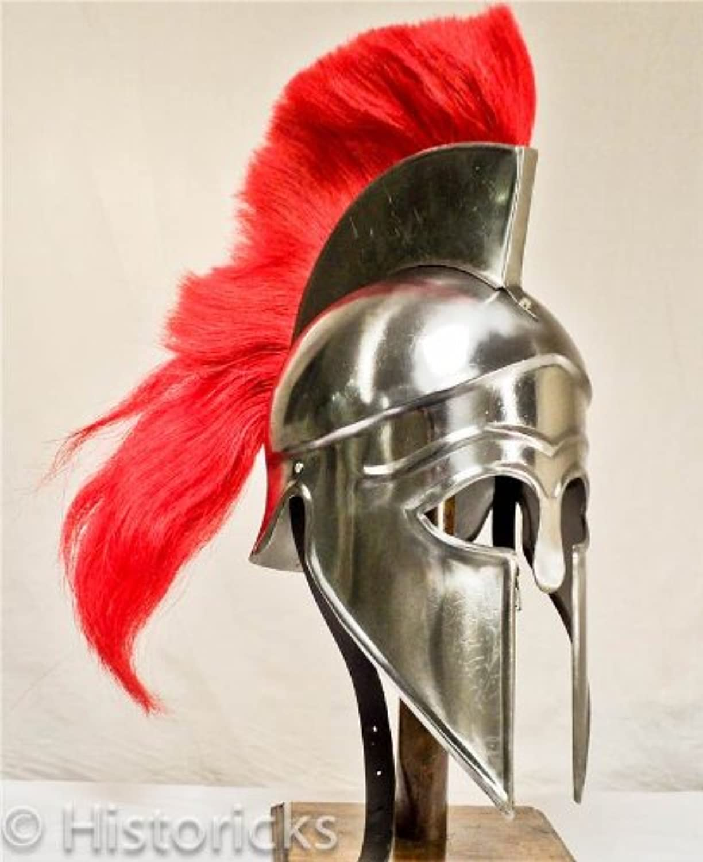 Corinthian Helmet with red horse hair plume
