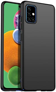 Samsung Galaxy A71 Mobile Phone Case All-Inclusive Frosted Silky Hard Ultra-Thin Drop-Resistant Protective Cover-Black