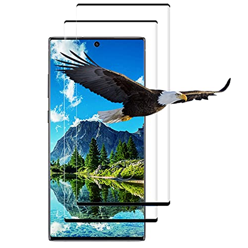 Samsung Galaxy Note 10 Plus 用 ガラスフィルム 3D曲面 全面保護 保護フィルム【2枚セット】指紋対応可能 硬度9H 防爆裂 強化ガラス 透過率99% 指紋防止 全面吸着 気泡なし 撥油加工 Galaxy Note10 plus 用 フィルム Galaxy Note 10 + 用 強化ガラスフィルム