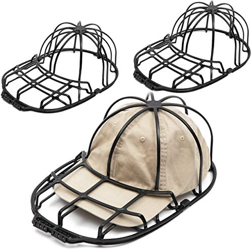 Baseball Cap Washing Cage for Laundry, Hat Cleaning (13.4 x 8.95 x 5 in, 3 Pack)