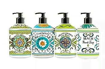 La Tasse Hand Soap 4-pack Scents   1  Sweet Orange  1  Gardenia  1  Creamy Coconut  1  Beach 21.5 FL OZ Each