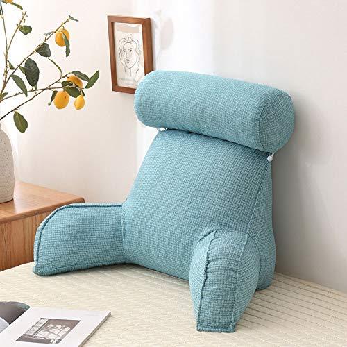 Almohada de Lectura para reposo en cama con brazos y bolsillos, almohadas traseras para sentarse en la cama, relleno de algodón PP, almohada para lectura y reposo en cama con desmontable para niños