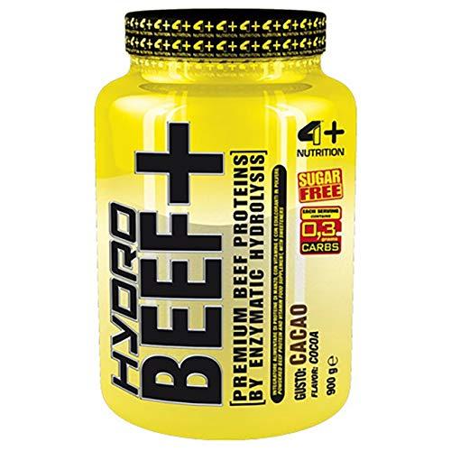 4 Sport Nutrition Hydro Beef+ Confezione da 1 x 900g Proteina di Manzo Amminoacidi BCAA Rafforzamento Muscolare Polvere (Chocolate)