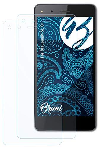 Bruni Schutzfolie kompatibel mit Blaupunkt SL 01 Folie, glasklare Bildschirmschutzfolie (2X)