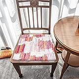 Cojín de espuma viscoelástica, bloque de color naranja blanco, comodidad superior y suavidad, lavable, asiento de coche/silla de oficina/sillas de comedor