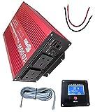 Spark Pure Sine Wave 1000W Car Power Inverter DC 12V to AC 230V 240V Voltage Converter with LCD REMOTE display