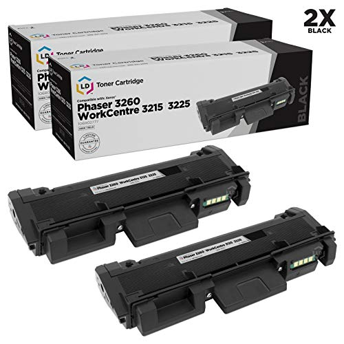 LD Compatible Toner Cartridge Replacements for Xerox 106R02777 High Yield (Black, 2-Pack)
