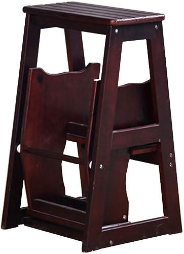 ¡No dudes! ¡Compra ahora! FOLDSS Escalera Plegable, Escalera de Madera de de de 3 Pasos Escalera Antideslizante Biblioteca multifunción Sala de Estar Fácil de almacenar 36 x 57 x 64,5 cm ( Color   Dark marrón )  de moda
