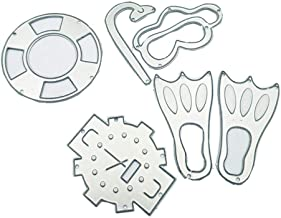 4 by 4 Inches Diving Equipment Metal Cutting Dies for Card Making and Scrapbooking