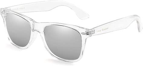LongKeeper Polarized Sunglasses Classic Square Unisex Transparent Frame Glasses