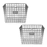 Spectrum Diversified Wire Storage Basket Medium Chrome 2-Pack [並行輸入品]