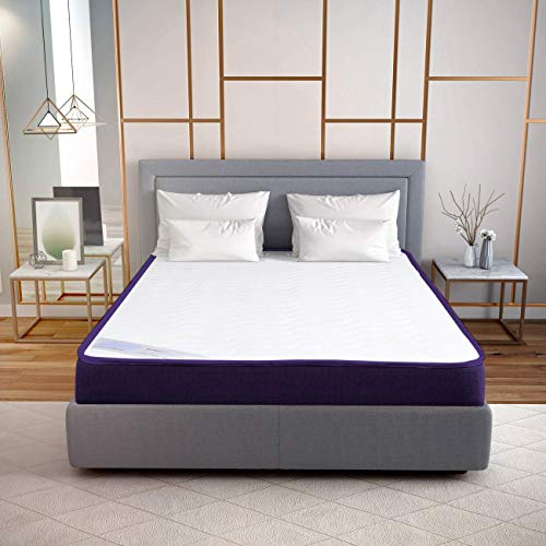 Hush Orthopaedic Support Memory Foam Mattress (Color - White) (75x60x6 Inches)