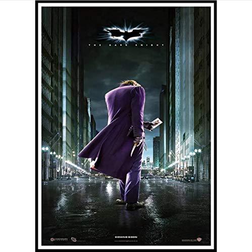 manyaxiaopu Joker Batman The Dark Knight Superheroes Movie Posters Láminas Artísticas Cuadros De Pared para La Decoración De La Sala Pintura Sin Marco B10 50X70Cm