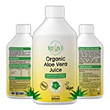 Next Gen U | Organic Aloe Vera Juice Concentrate 50 Servings 500ml | Max Strength 10 X Concentrated Pure Aloe Vera Juice | No Pulp Added | Suitable fo