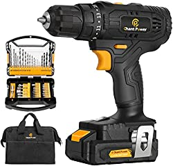 professional Cordless drill, lithium ion driver 20 Vmax.  2 variable speeds, 41 accessories, …