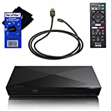 Sony BDP-S3200 Wi-Fi Blu-ray Disc Player with Remote Control + Xtech High-Speed HDMI Cable with Ethernet + HeroFiber Ultra Gentle Cleaning Cloth
