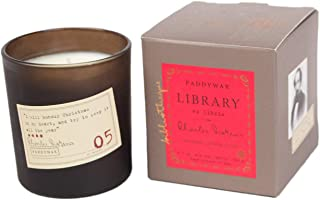 Paddywax Library Collection Charles Dickens Scented Soy Wax Candle, 6.5-Ounce, Tangerine,..