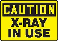 安全標識-使用中の注意X線。 金属スズサインUV保護および耐候性、通知警告サイン